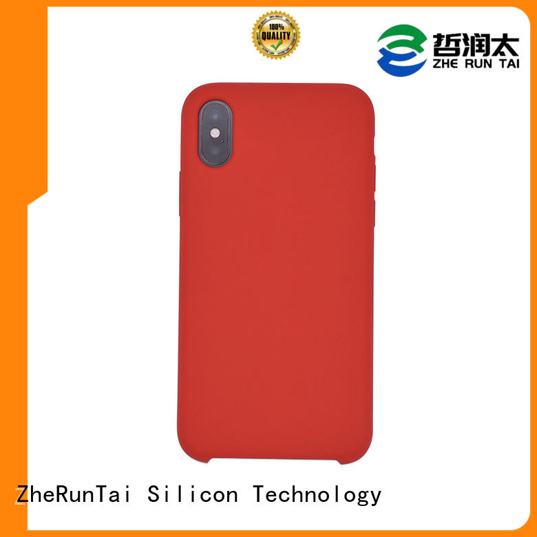 ZheRunTai Skin-friendly touch silicone mobile cover in-green for decorative