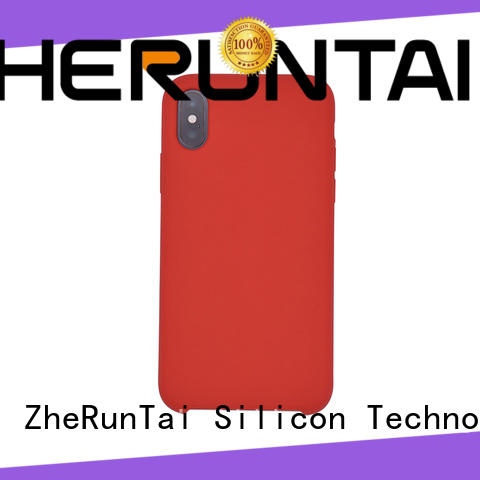 ZheRunTai iphone custom silicone phone case factory for dirt-resistant