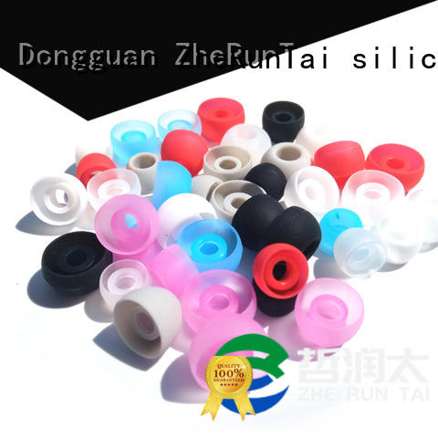 ZheRunTai simple design silicone earbud tips widely-use for shopping