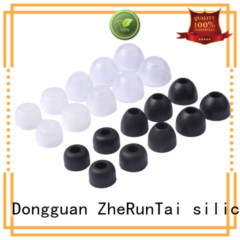 ZheRunTai simple design silicone earbud tips factory price for study