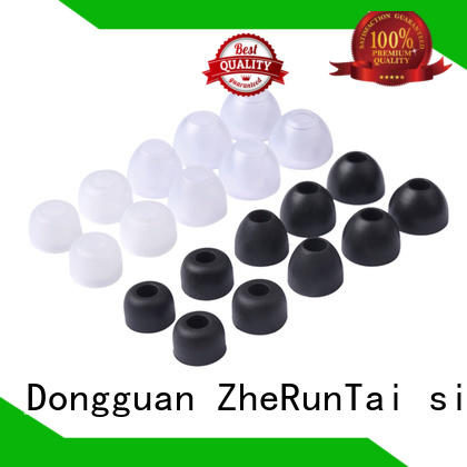 ZheRunTai silicone silicone earbud tips bulk production for study