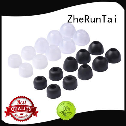 ZheRunTai simple design silicone earbud tips from manufacturer for shopping