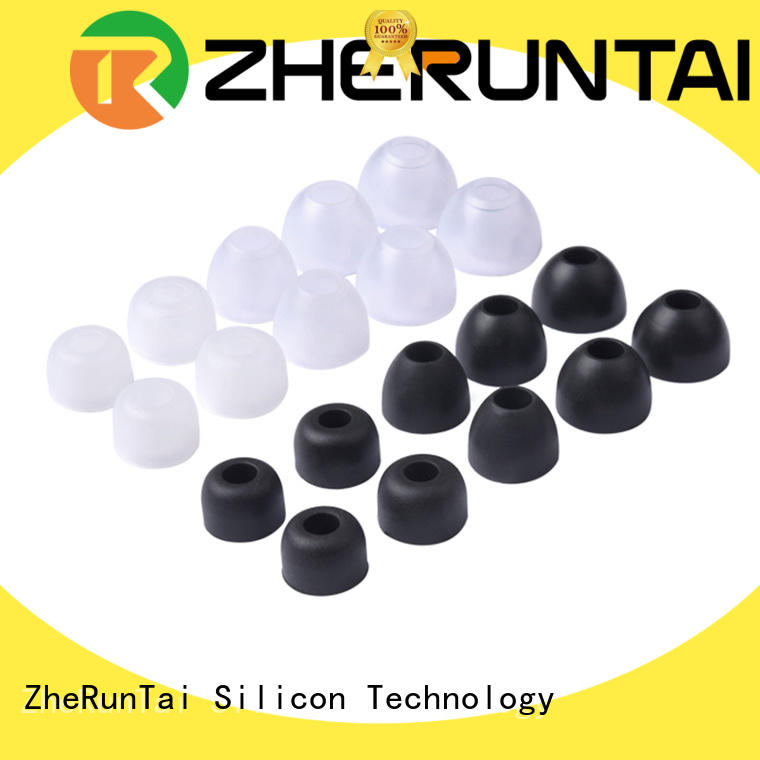 ZheRunTai Wholesale silicone earbud supply for listening music