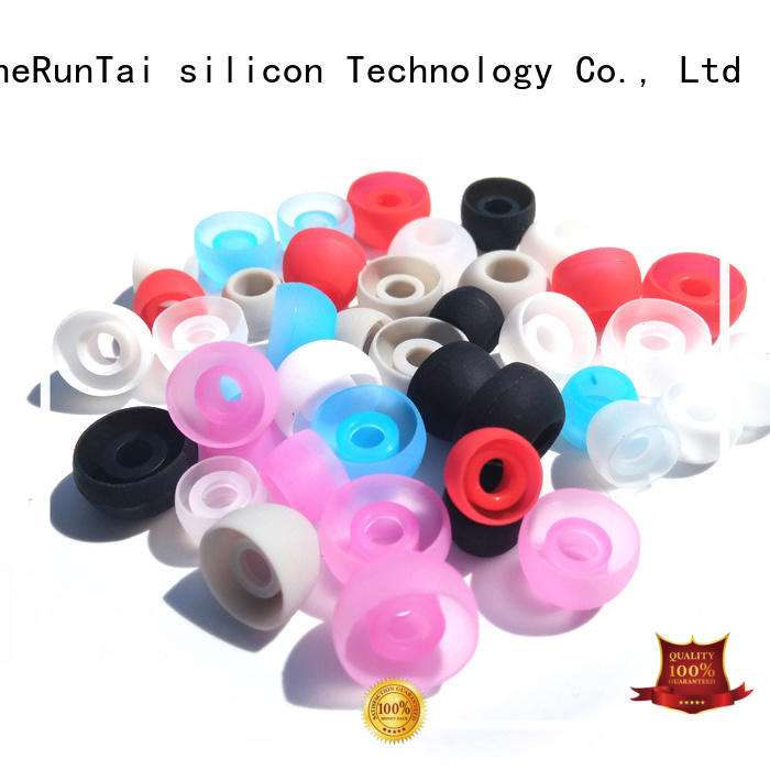 ZheRunTai earbud silicone earbud tips bulk production for phone